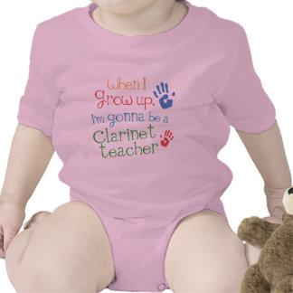 Camiseta infantil del bebé del profesor del