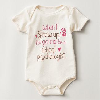 Camiseta infantil del bebé del psicólogo de la mameluco