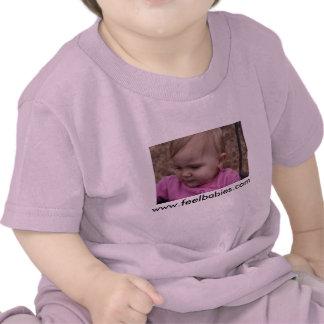 Camiseta infantil del bebé rosa
