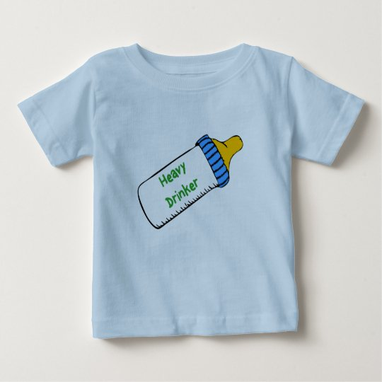 Camiseta infantil del bebedor pesado