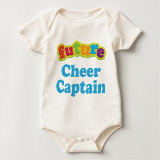 Camiseta infantil del capitán de la alegría enterito