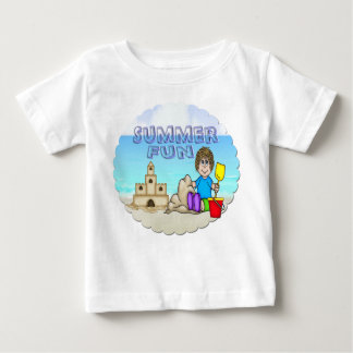Camiseta infantil del castillo de arena (muchacho)