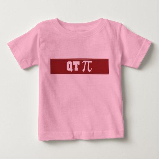 Camiseta infantil del cuarto de galón pi de la playera