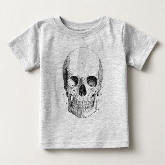 Camiseta infantil del diagrama del cráneo remera