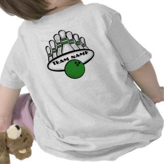 Camiseta infantil del equipo verde adaptable de lo