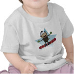 Camiseta infantil del mono de la snowboard