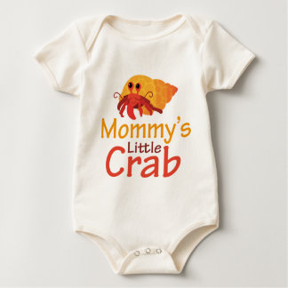 Camiseta infantil del pequeño cangrejo de la mamá