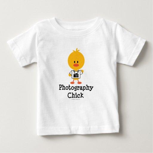 Camiseta infantil del polluelo de la fotografía playeras