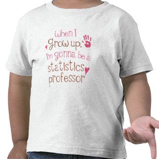 Camiseta infantil del profesor de las estadísticas