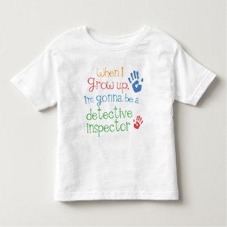 Camiseta infantil detective del bebé del inspector