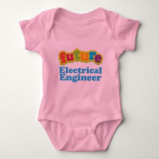 Camiseta infantil eléctrica del bebé del ingeniero