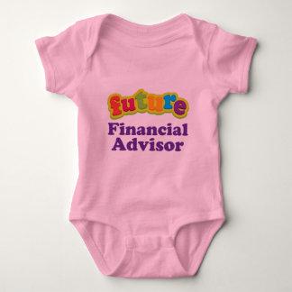 Camiseta infantil financiera del bebé del remera