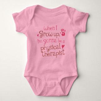 Camiseta infantil física del bebé del terapeuta playera