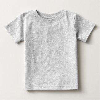 Camiseta infantil gris llana para los bebés playera