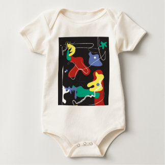 Camiseta infantil Miro-Inspirada Mameluco