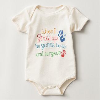 Camiseta infantil oral del bebé del cirujano mameluco