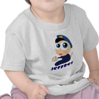 Camiseta infantil personalizada del oficial de pol