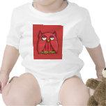 Camiseta infantil roja del búho rojo