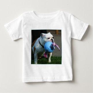 Camiseta inglesa del bebé del dogo playera