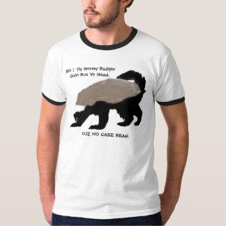 Camiseta inglesa del tejón de miel del Pidgin Playera