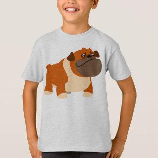 Camiseta inglesa linda de los niños del dogo playeras