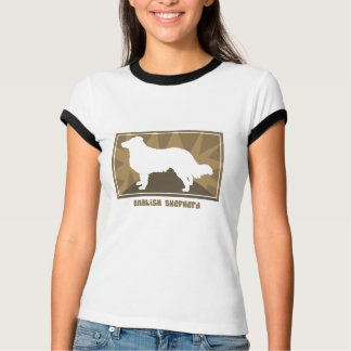 Camiseta inglesa terrosa de las señoras del pastor