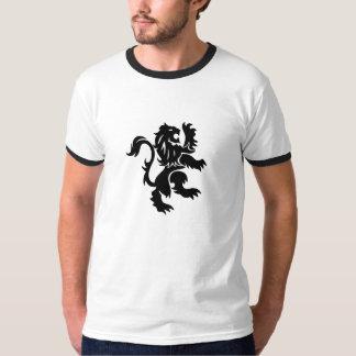 Camiseta inglesa tribal única del diseño del león poleras