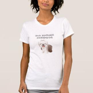 Camiseta inglesa vieja del perro pastor camisas