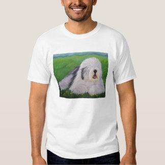 Camiseta inglesa vieja del perro pastor de Sharon Polera