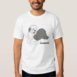 Camiseta inglesa vieja del perro pastor playera