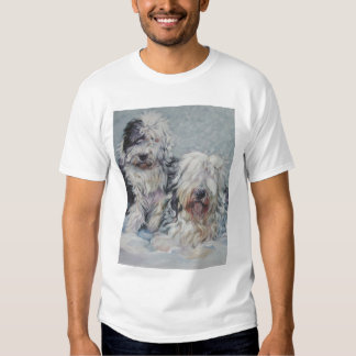 Camiseta inglesa vieja del perro pastor poleras