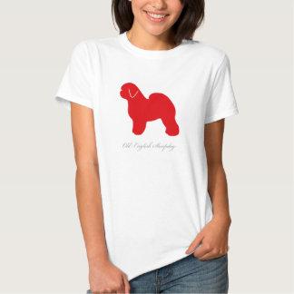 Camiseta inglesa vieja del perro pastor (silueta polera