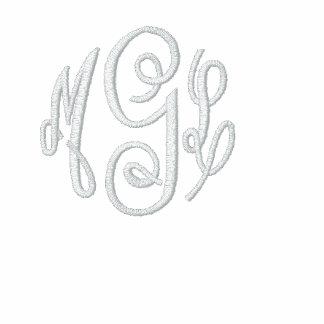 Camiseta inicial del monograma