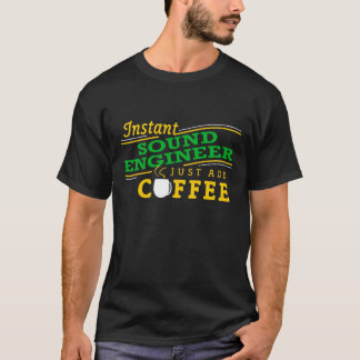 Camiseta inmediata del ingeniero de sonido (apenas