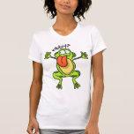 Camiseta insana de las señoras de la rana