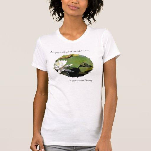 Camiseta inspirada de la cita de la rana y de la f