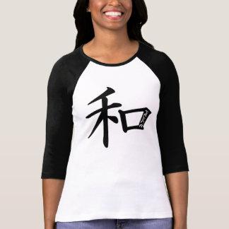 Camiseta inspirada japonesa de la PAZ Polera