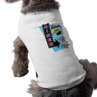 Camiseta inspirada los años 50 retros del mascota  playera sin mangas para perro