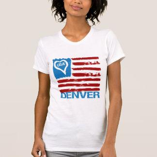 Camiseta INSPIRADA PINTURA de la BANDERA de DENVER