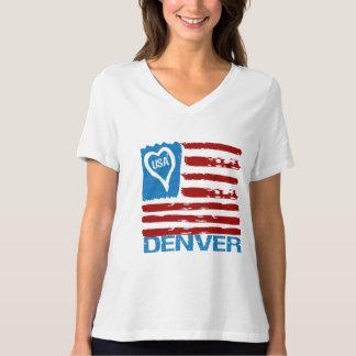 Camiseta INSPIRADA PINTURA de la BANDERA de DENVER Remera