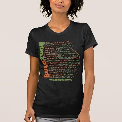 Camiseta INTRÉPIDA de 2008 ciudades