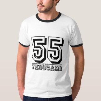 Camiseta intrépida de la rabia 55K Playeras
