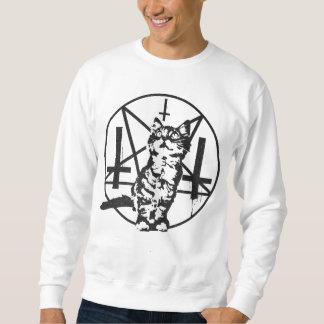 Camiseta invertida del gatito de la cruz y del pulóvers sudaderas