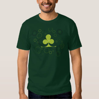 Camiseta irlandesa afortunada del trébol polera