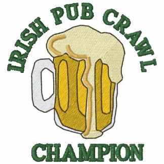 Camiseta irlandesa bordada del campeón del