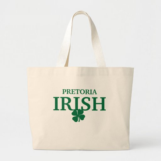 Camiseta irlandesa de encargo orgullosa de la ciud bolsa tela grande