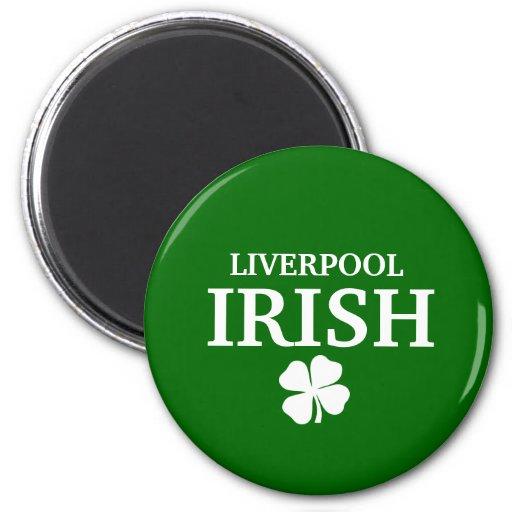 Camiseta irlandesa de encargo orgullosa de la ciud imán para frigorifico