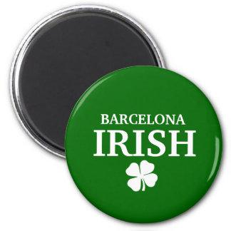 Camiseta irlandesa de encargo orgullosa de la ciud imán redondo 5 cm