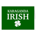 Camiseta irlandesa de encargo orgullosa de la ciud tarjetas
