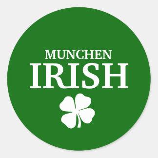 Camiseta irlandesa de encargo orgullosa de la etiquetas redondas